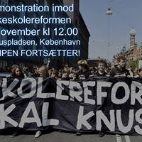 Demonstration Imod Skolereformen - Kbenhavn