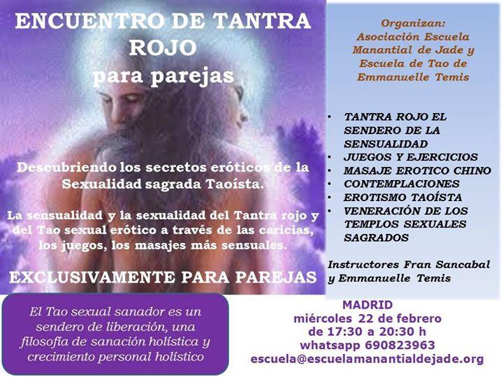 Encuentro De Tantra Rojo Para Parejas En Madrid At Madrid Spain
