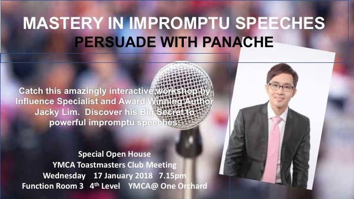 Club Meeting & Mastery in Impromptu Speeches Workshop