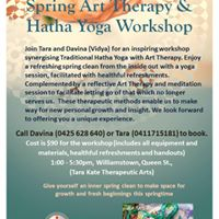 Spring Art Therapy &amp Hatha Yoga Workshop
