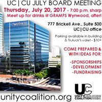 UCCU July 20 2017 Board mtg &amp Meet up for DrinksGramps after