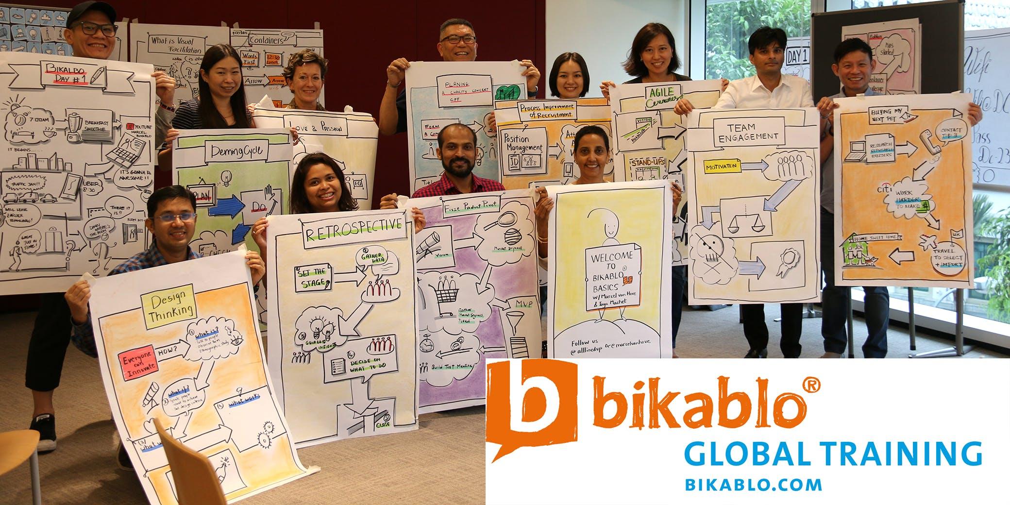 Visual Facilitation - bikablo basics  - No drawing skills required - 3 August 2018