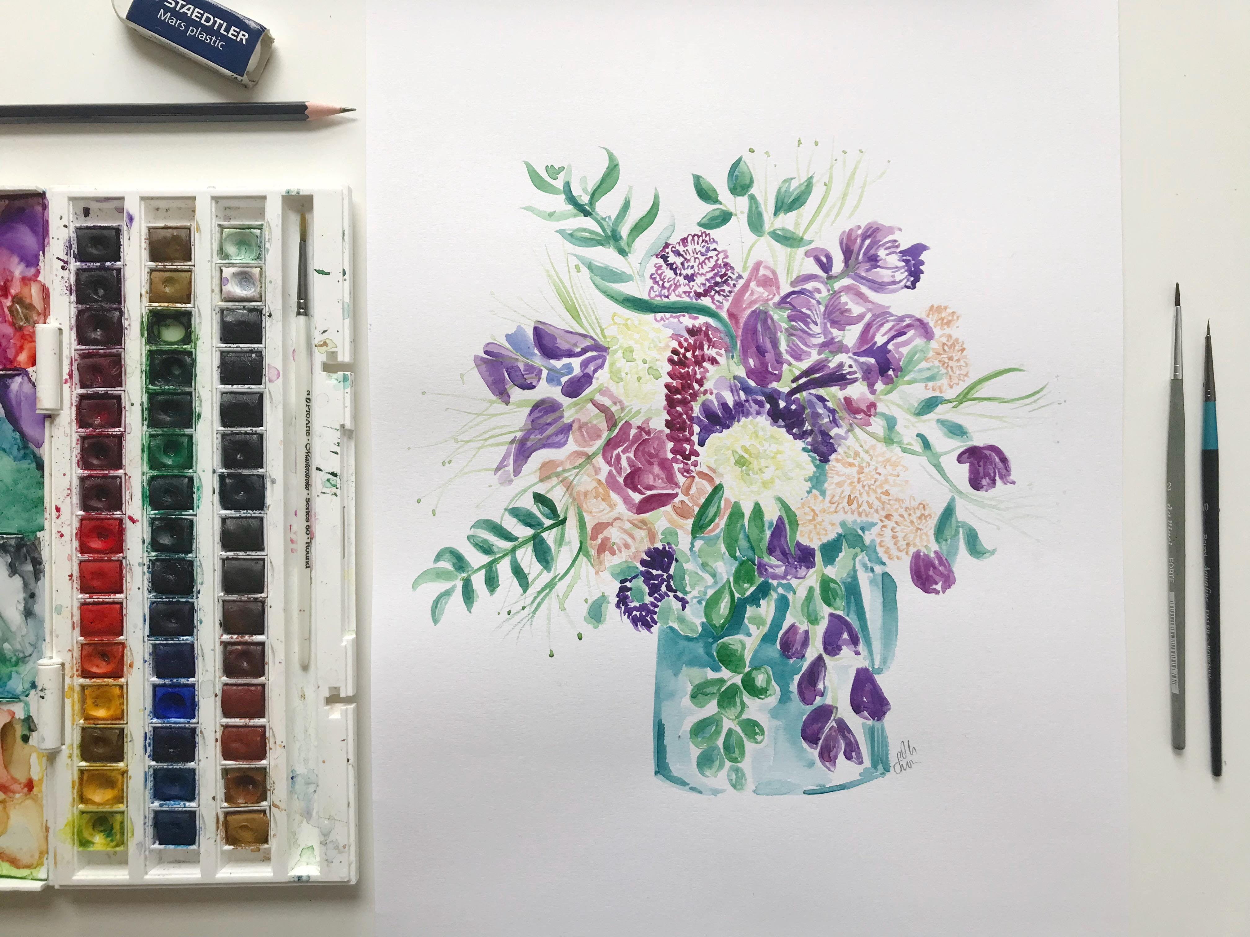 Make Your Own Watercolour Flowers Painting - for Beginners