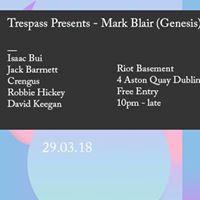 Trespass Presents - Mark Blair (Genesis) - Free Entry