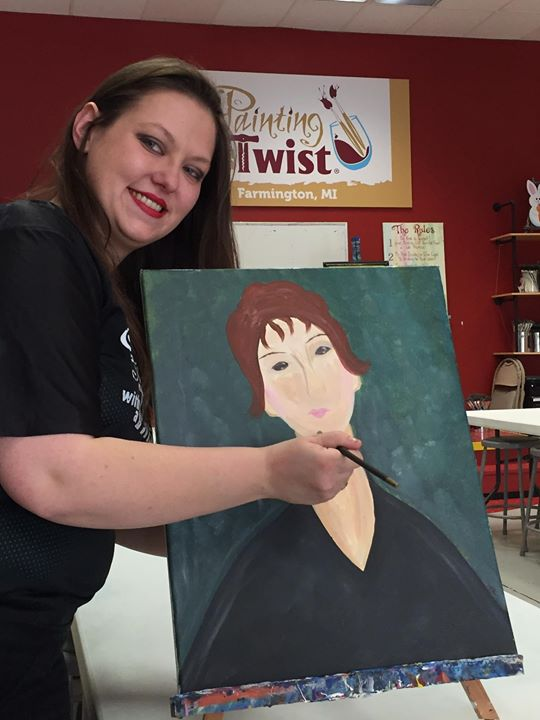 Paint Your Mom For Mothers Day Kids Painting Class At Painting With