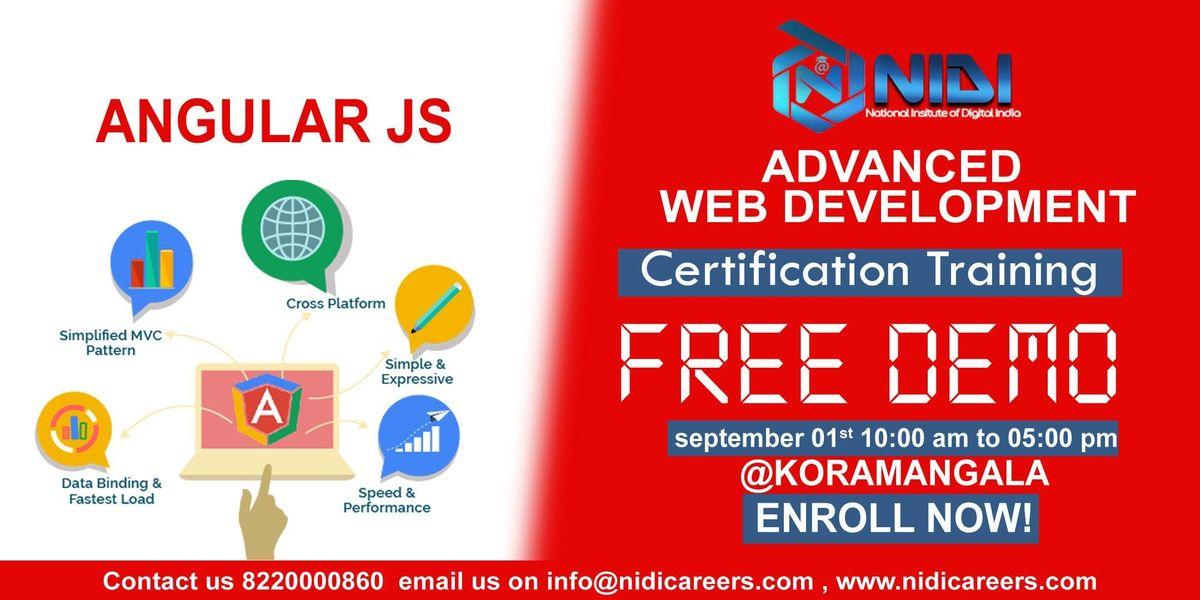 Advanced Website Development Workshop Angular Js At Nidi Careers