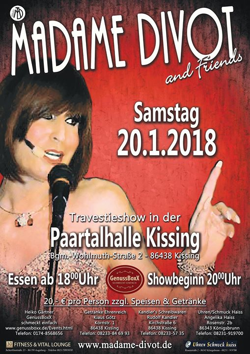 Madame Divot & Friends - Travestie Show at GenussBoxX - schmeckt ...