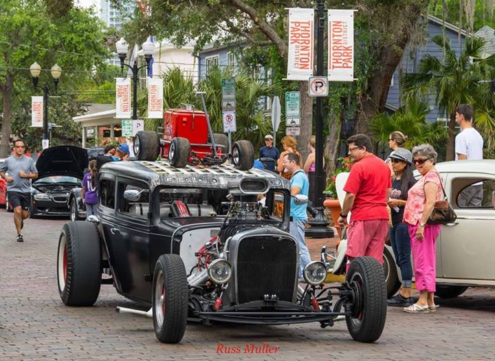 TPD Car Show Downtown Orlando At Thornton Park District Orlando - Car show orlando classic weekend