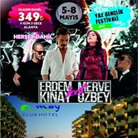 219.00 TL 05-08 Mays 3 Gece 4 Gn May Gerden Club Hotel