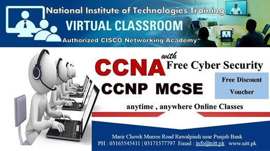 CCNA with Free Cyber Security Online Class at National Institute of