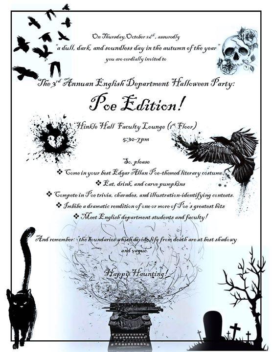Halloween Party: Poe Edition at Hinkle Hall, Cincinnati
