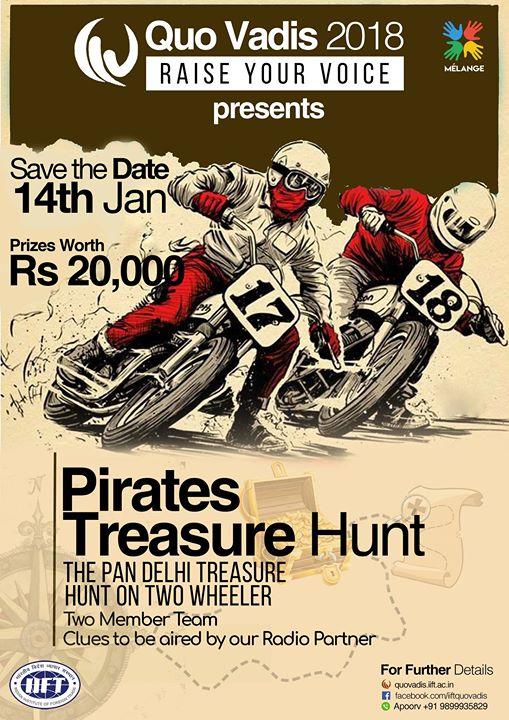 Pirates 2018  The pan-Delhi treasure hunt on two-wheelers