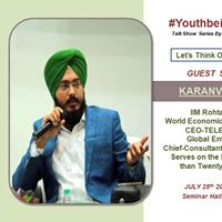 youthbeinglimitless  Talk Show By Karanvir Singh