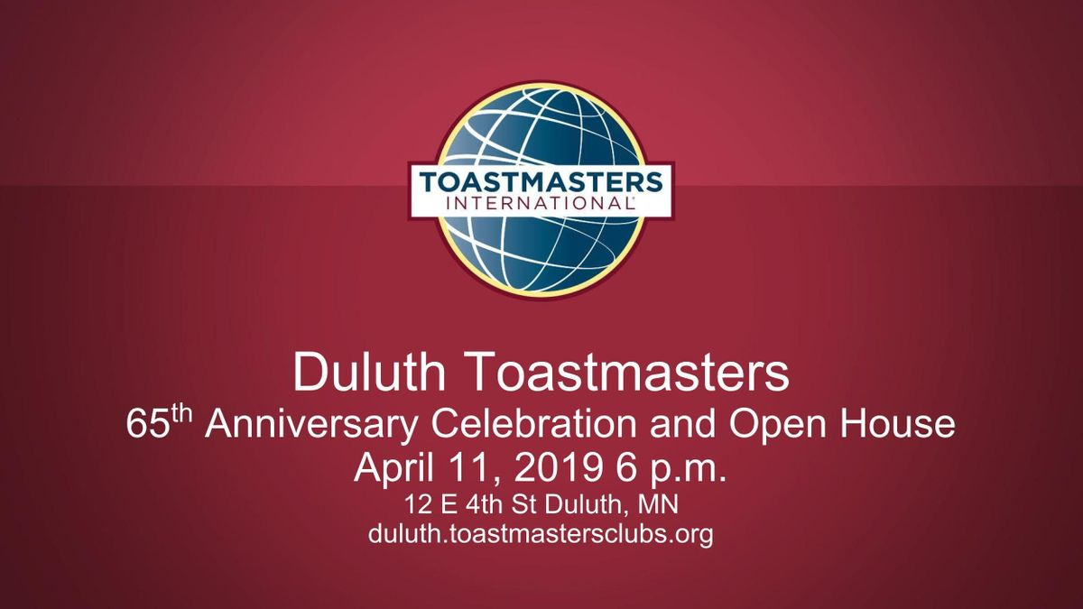 Duluth Toastmasters 65th Anniversary Celebration And Open House At