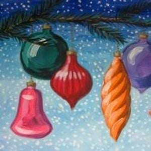 Canvas Painting Christmas Ornaments At Wine Design Columbia Sc
