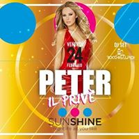Venerd 24 febbraio - Peter Riccione - Sunshine Party