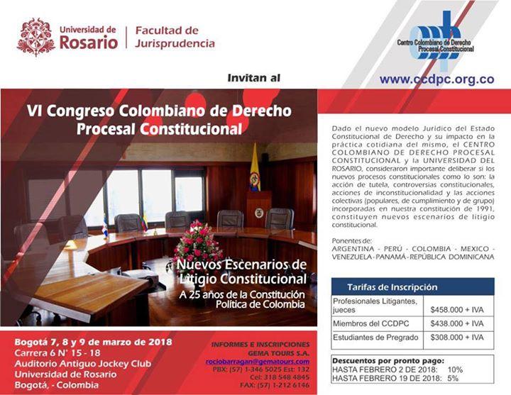 VI Congreso Colombiano de Derecho Procesal Constitucional