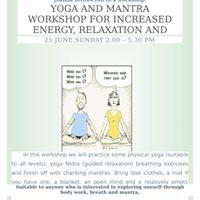 Yoga And Mantra Workshop-With Joanna Kondratowicz