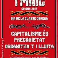 Manifestaci de l1 maig (dia de la classe obrera) a Girona