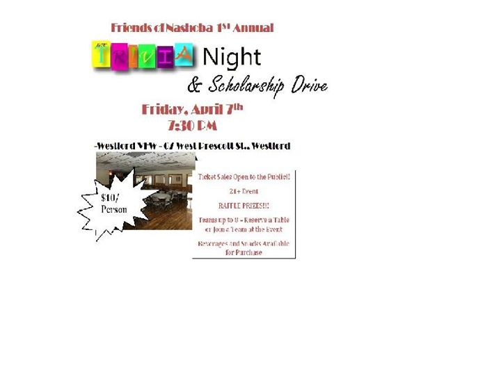 Friends of Nashoba Trivia Night Scholarship Fundraiser