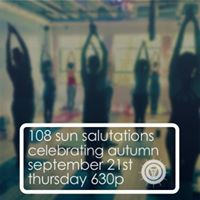 108 Sun Salutations Celebrating Autumn