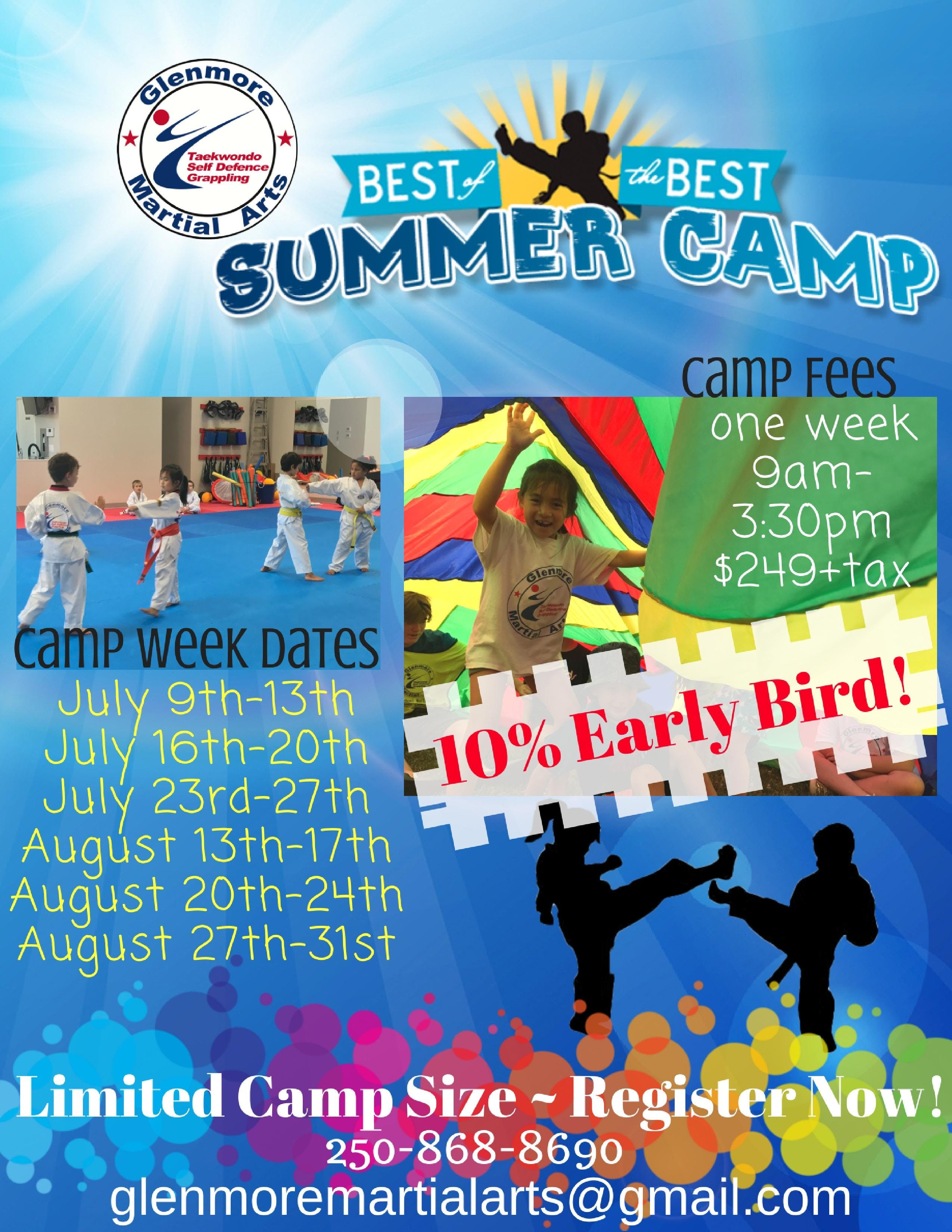 Summer Day Camps in Kelowna - July. 16th - 20th at Glenmore Martial ...