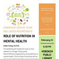 Wellness Wednesdays Role of Nutrition in Mental Health