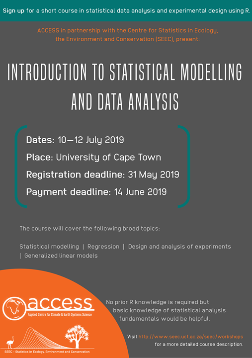 Introduction to statistical modelling and data analysis at
