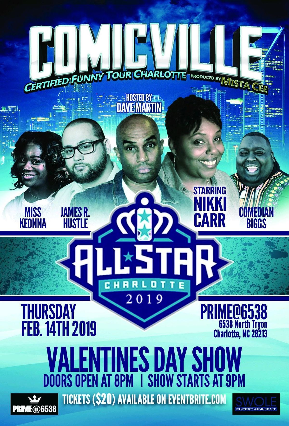 COMICVILLE  CERTIFIED Funny Tour ALL STAR CHARLOTTE