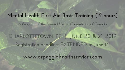 Mental Health First Aid Basic Training - Charlottetown PE