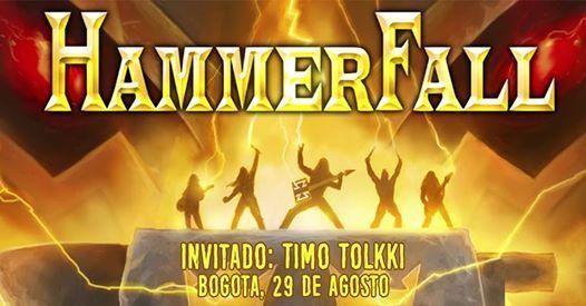 Hammerfall en Bogot - Tour 2019