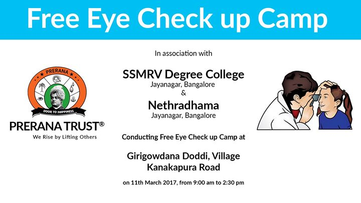 3481e97f994 Free Eye Check up Camp at Girigowdana Doddi