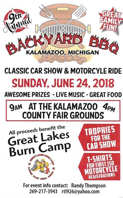 Th Ann Back Yard BBQ Car Show Motorcycle Ride Page At - Kalamazoo michigan car show