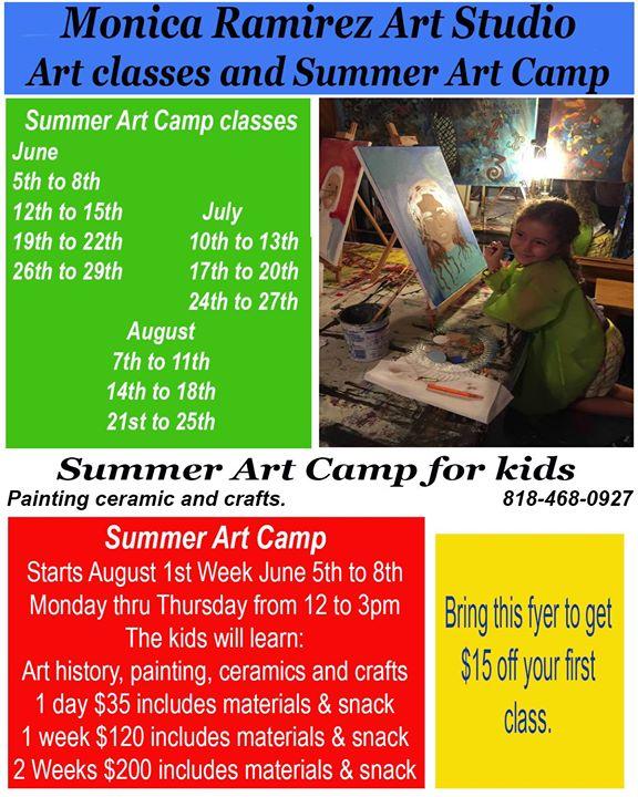 Summer Art Classes at Monica Ramirez Art Studio, McAllen