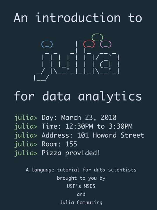 An introduction to Julia for data analytics