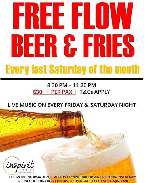 Free Flow Beer & Fries with Live Music