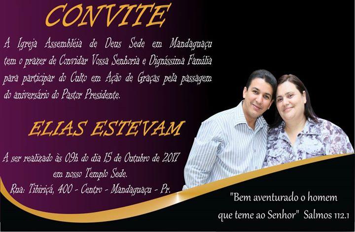 Aniversário Do Pastor At Rua Tibiriçá 400 Centro De Mandaguaçu