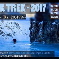 Chadar Trek - 2017 (4 batches)