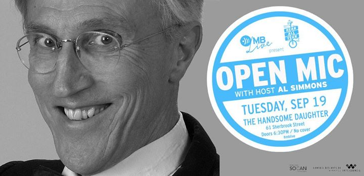 MB Music Open Mic - Hosted By Al Simmons - Sept 19 at HD