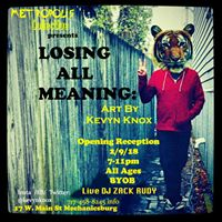 Metropolis Presents Losing All Meaning The Art of Kevyn Knox