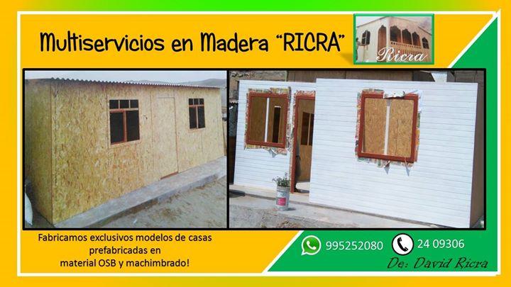 Promocion De Casas Prefabricadas En Material Osb Y Machimbrado At