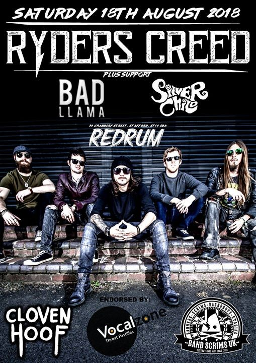 Ryders Creed plus Bad Llama and Silver Child