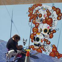 The Mural Marigold Project for Dia de Los Muertos