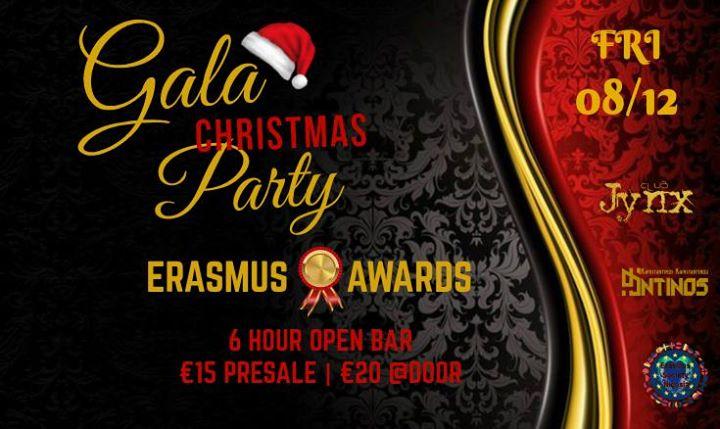 Christmas GALA Party - Erasmus Awards Fall-17 (Friday 812)