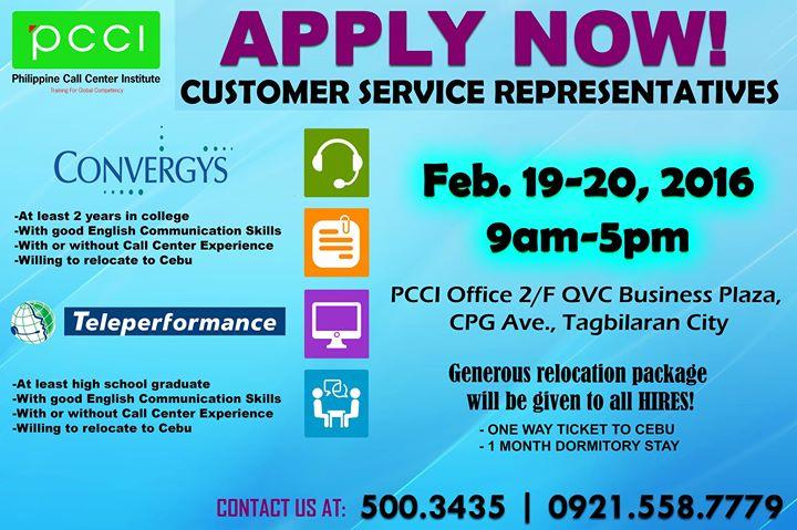 Job Hiring for Convergys and Teleperformance at PCCI ...