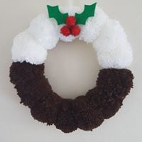 Pom Pom Pudding Wreath