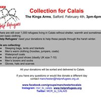 Manchester to Calais- Donation drop-off day