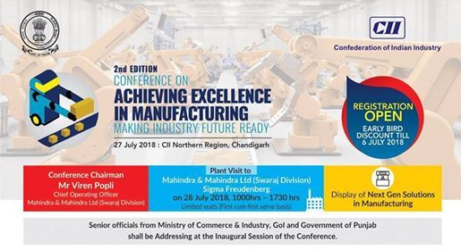 2nd Edition Conference on Achieving Excellence in Manufacturing