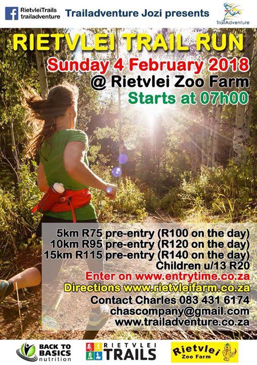 Rietvlei Trail Run Jhb Johannesburg