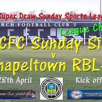 PCFC Sunday Side v Chapeltown RBL - Friday 28th April 2017